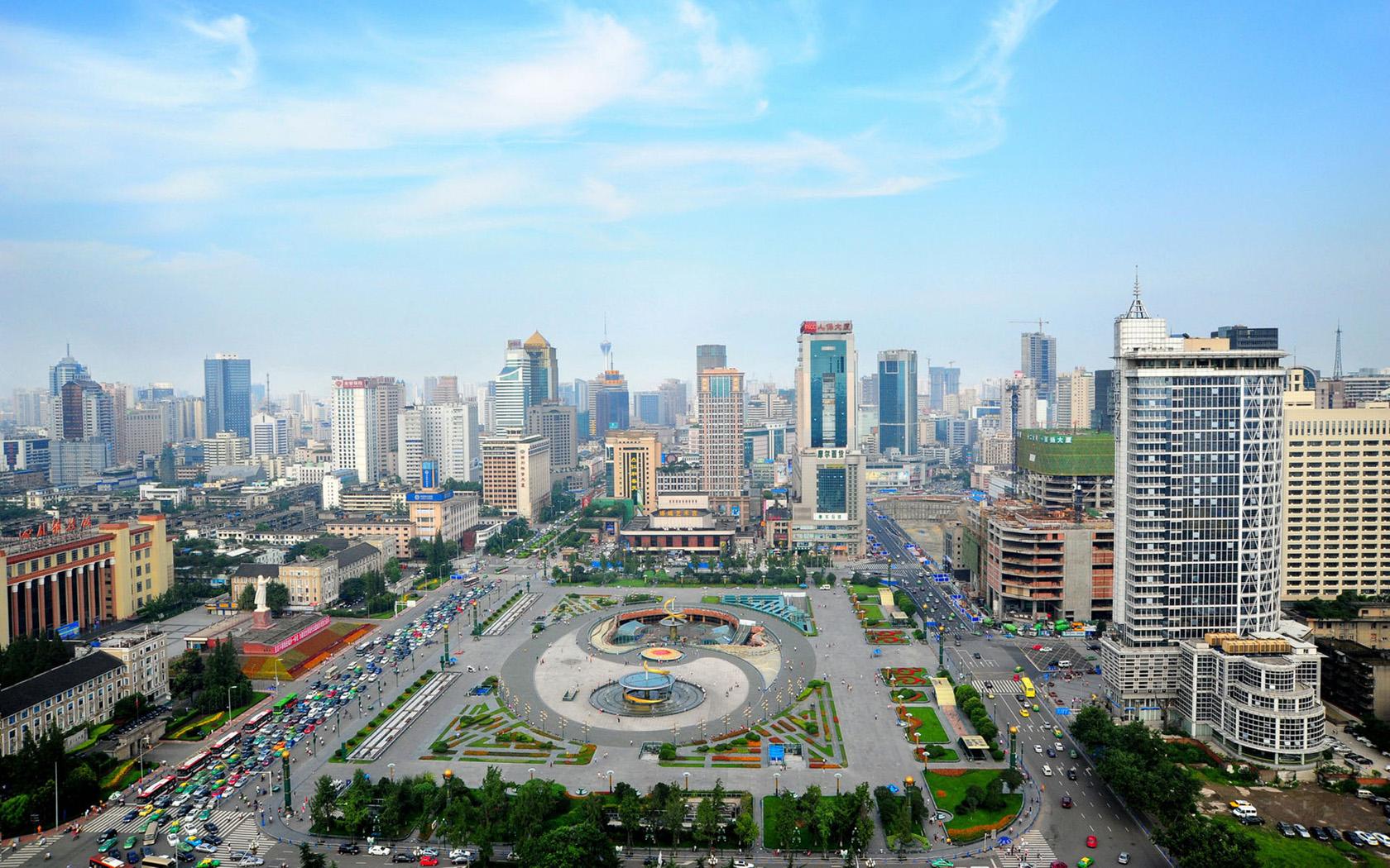 Tianfu Square in Chengdu_1680x1050
